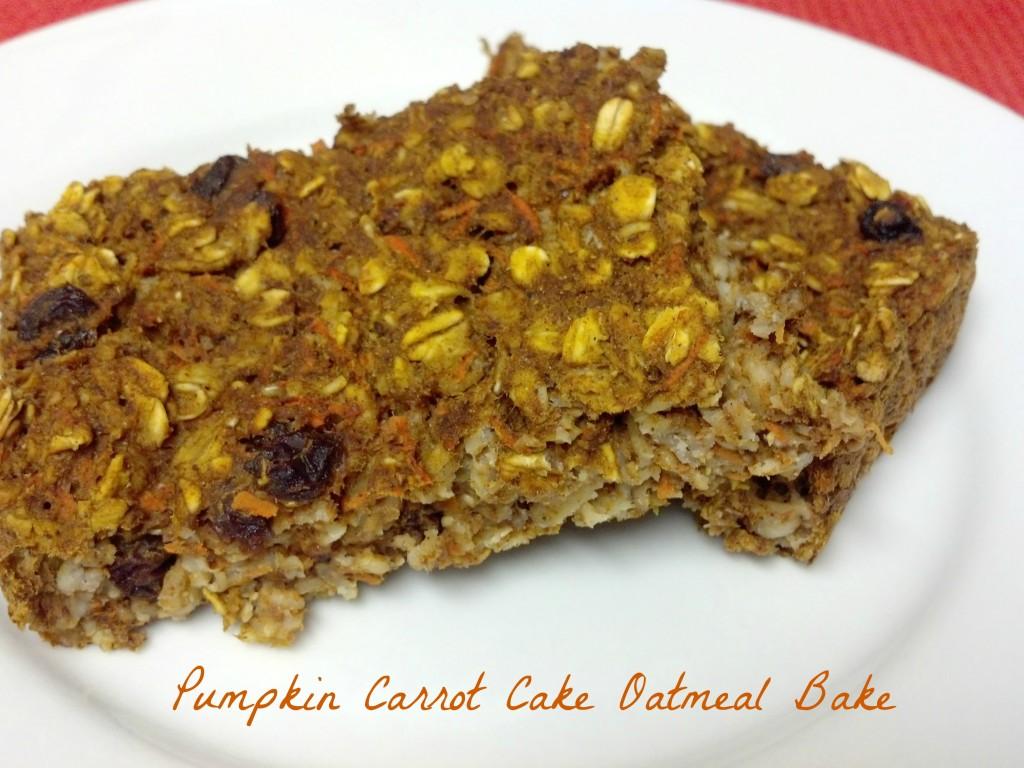 Pumpkin Carrot Cake Oatmeal Bake