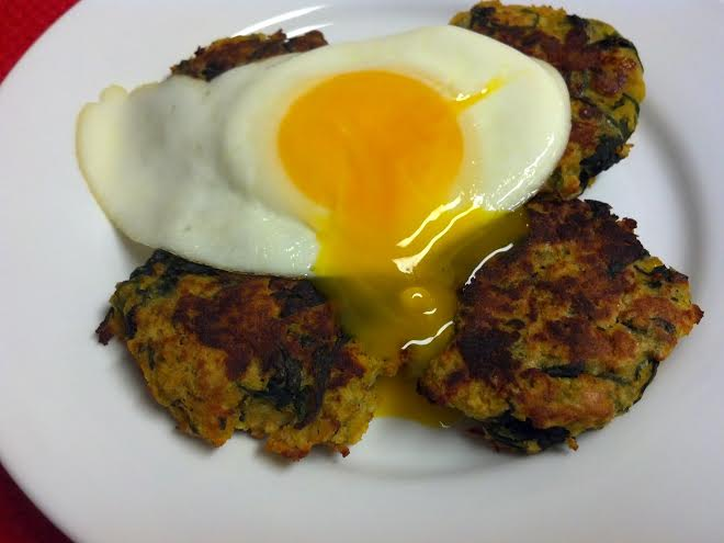 friday favorite squash spinach fritter