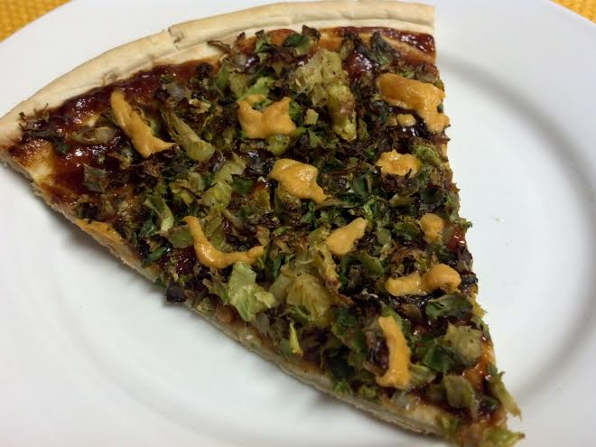 friday favorites brussel sprout bbq pizza