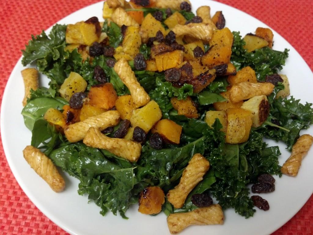 friday favorites butternut kale salad