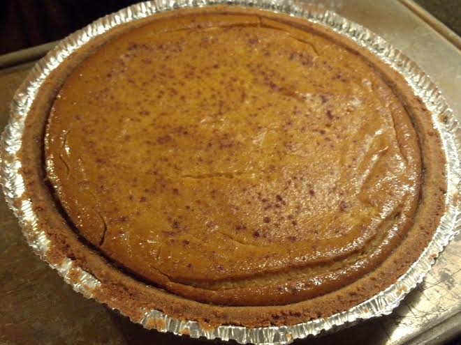 vegan pumpkin pie 2