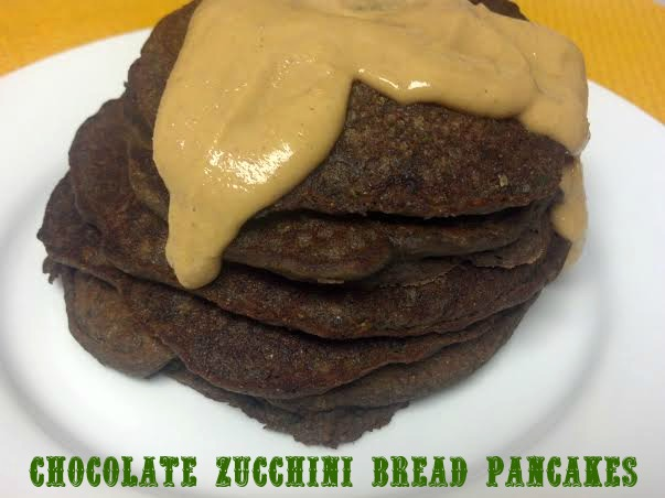 Chocolate Zucchini Bread Pancakes for One - Clean Eating Veggie Girl