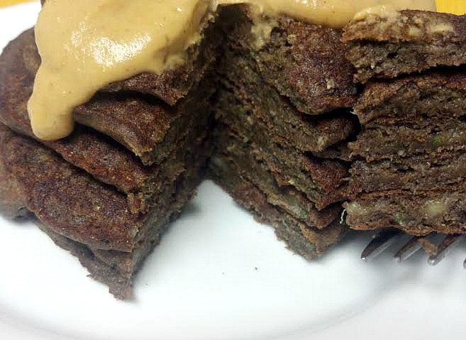chocolate zucchini bread pancakes