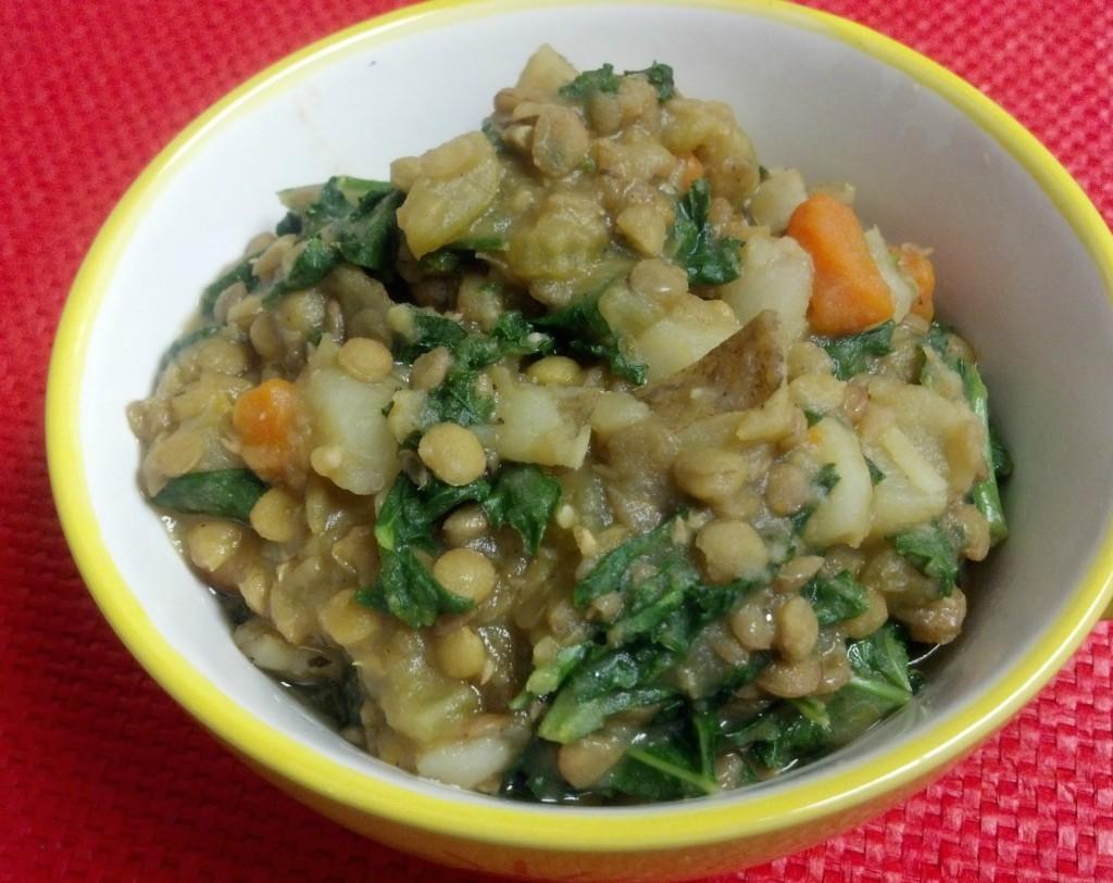 friday favorites lentil kale potato soup