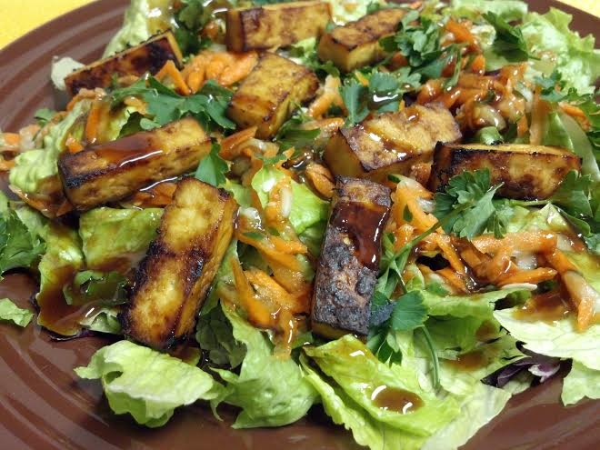tofu banh mi salad