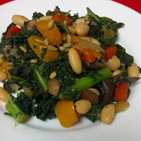 friday favorite warm kale salad