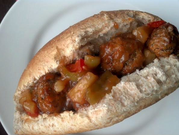 sweet and sour meatball sub 3