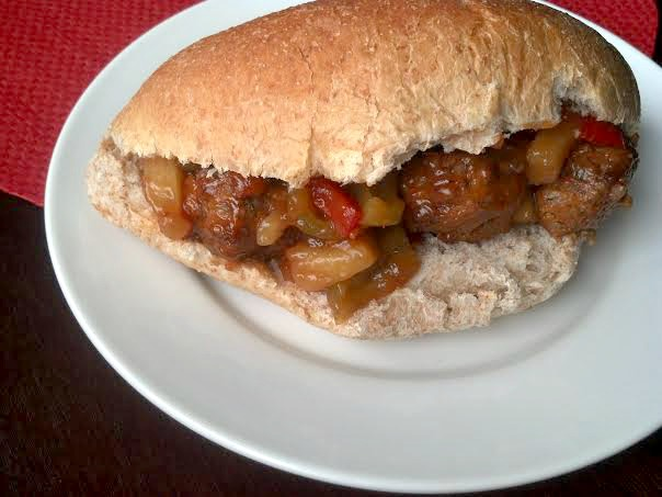 sweet and sour meatball sub 6