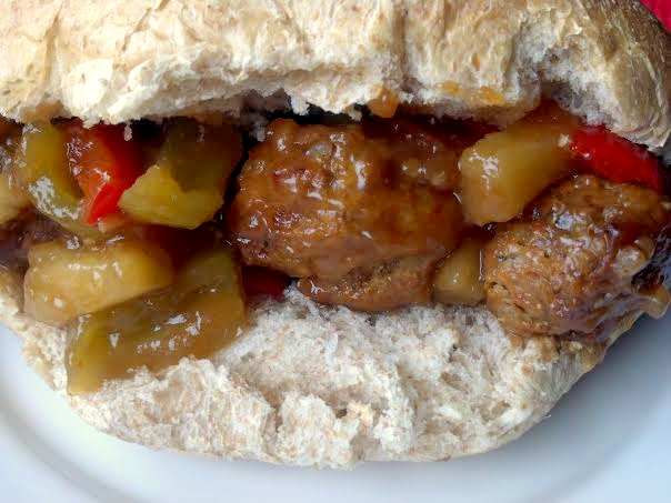 sweet and sour meatball sub 9