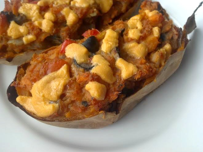 Twice-Baked Pizza Sweet Potatoes – Clean Eating Veggie Girl