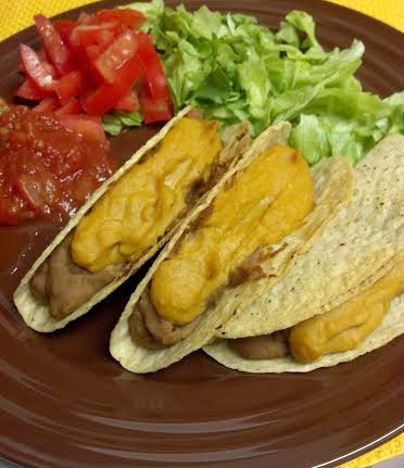 friday favorites baked refried bean tacos