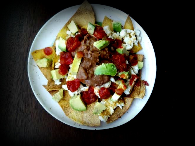 breakfast egg nachos