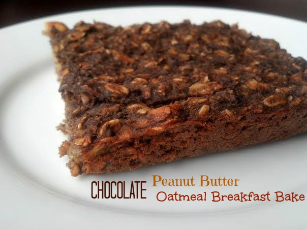 chocolate peanut butter oatmeal bake