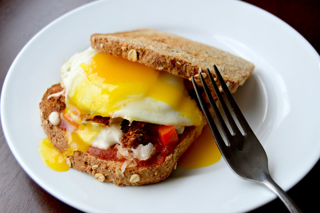 breakfast pizza sandwich 15