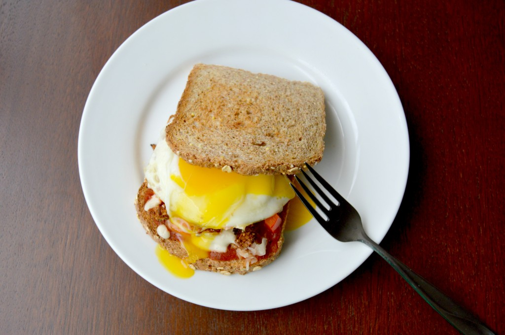 breakfast pizza sandwich 16