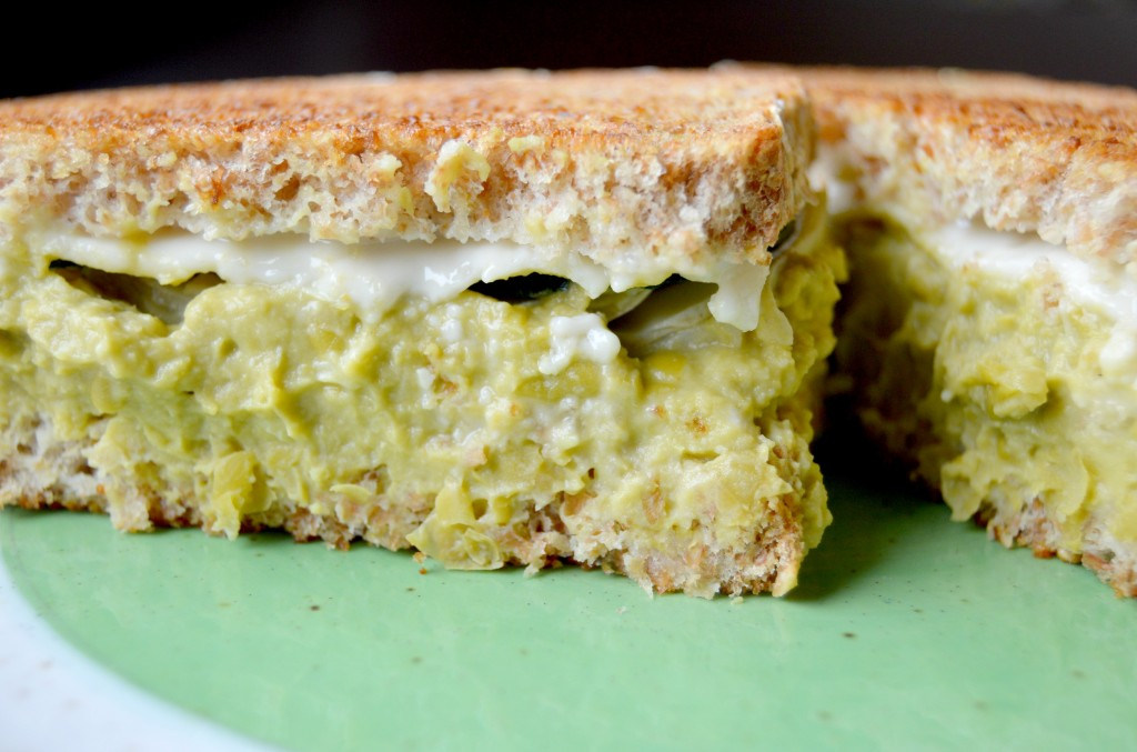 Springtime Veggie Grilled Cheese with Horseradish and Garlic Pea ...