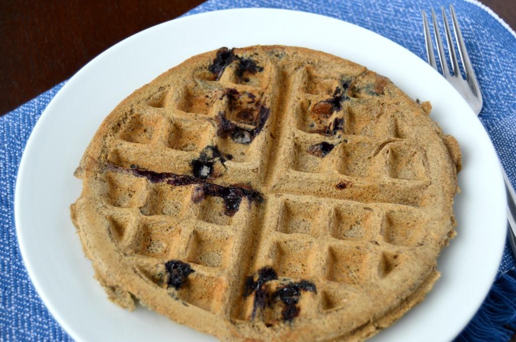 blueberry coconut waffle