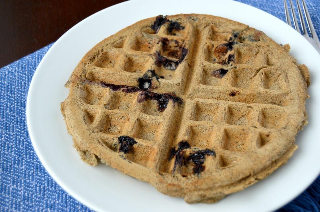 blueberry coconut waffle 2