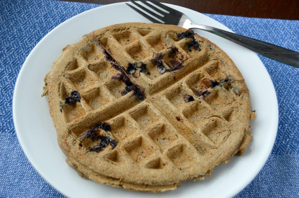 blueberry coconut waffle 3