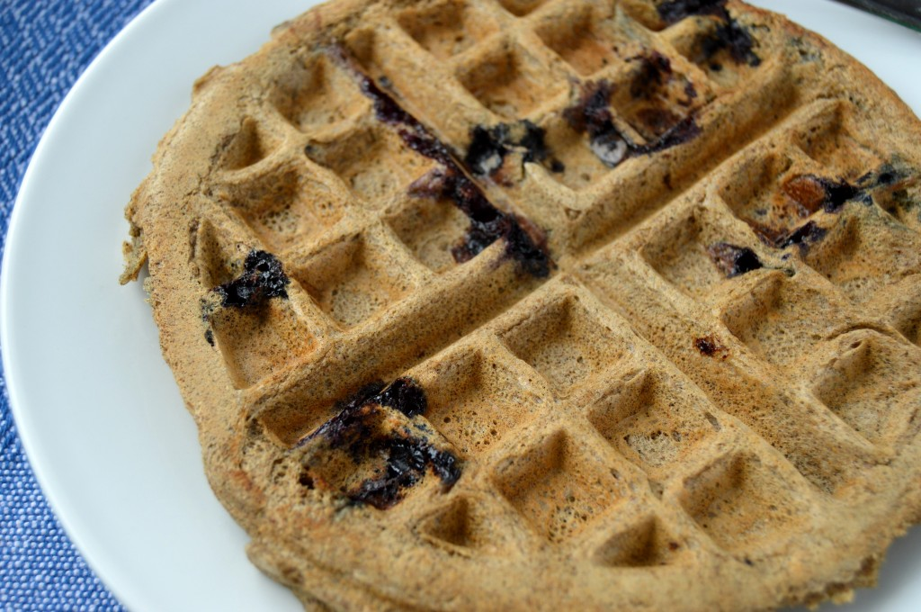 blueberry coconut waffle 4