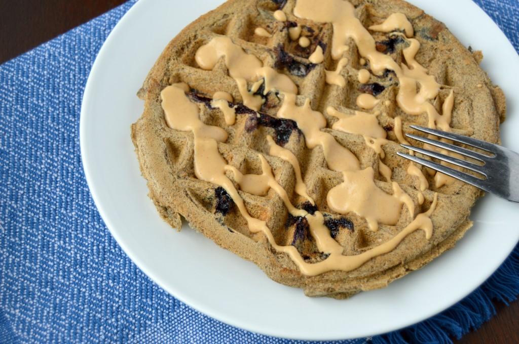 blueberry coconut waffle 8