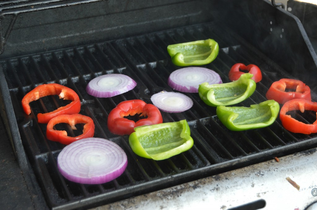 grilled pizza peppers