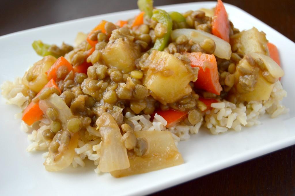 sweet sour lentils 3