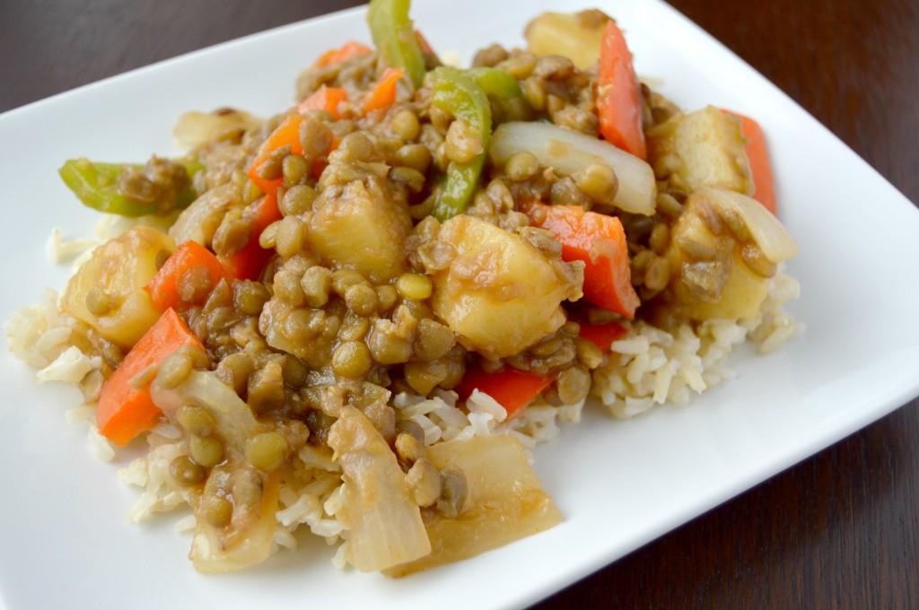 sweet sour lentils 4
