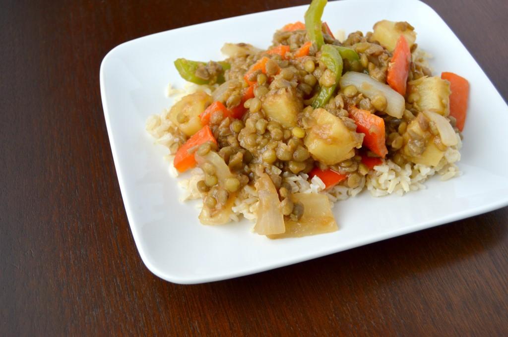sweet sour lentils 6