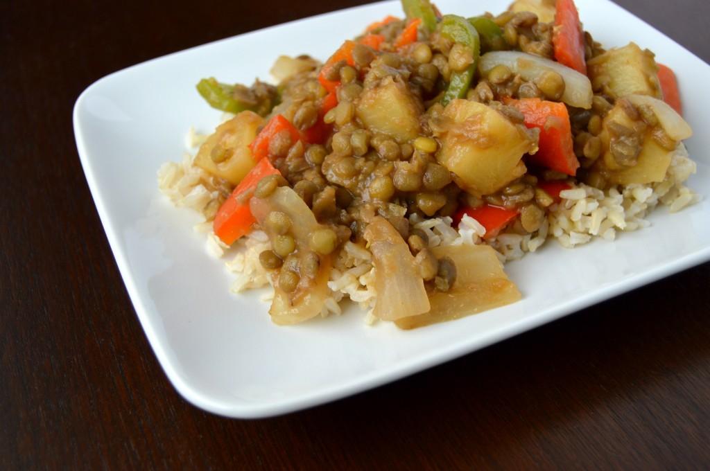 sweet sour lentils 7