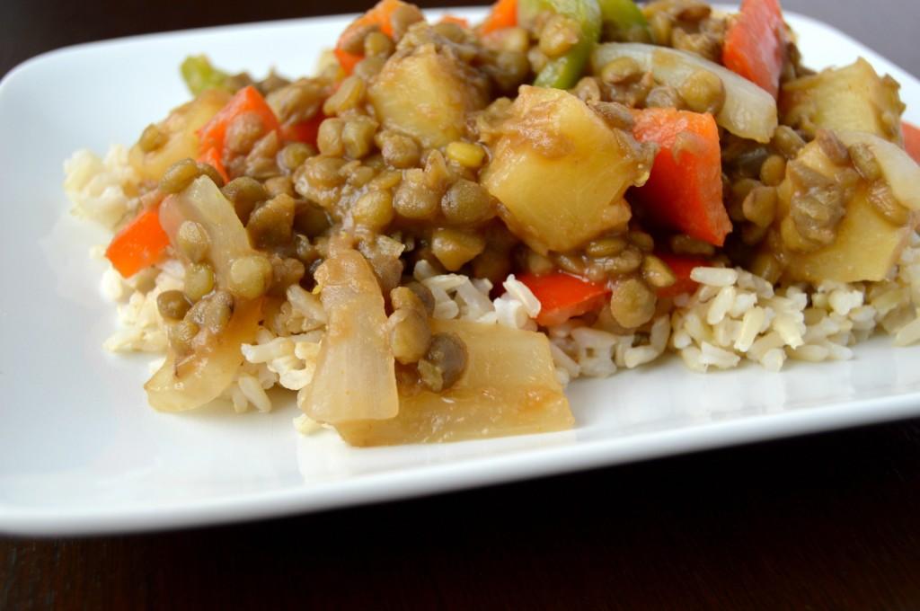 sweet sour lentils 8