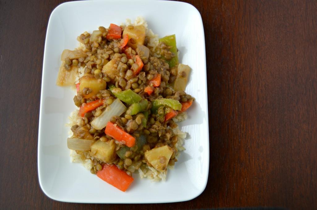sweet sour lentils 9