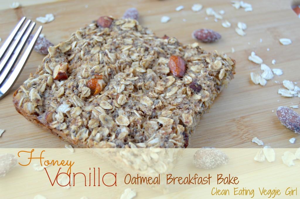 honey vanilla oatmeal bake 8