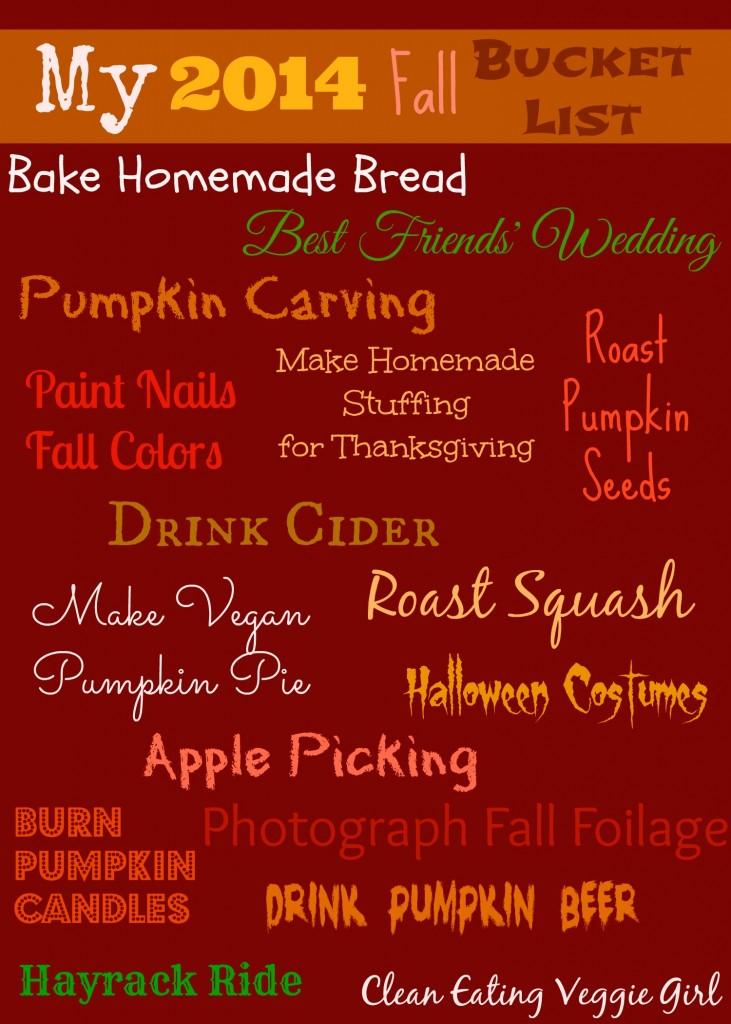Fall 2014 Bucket List