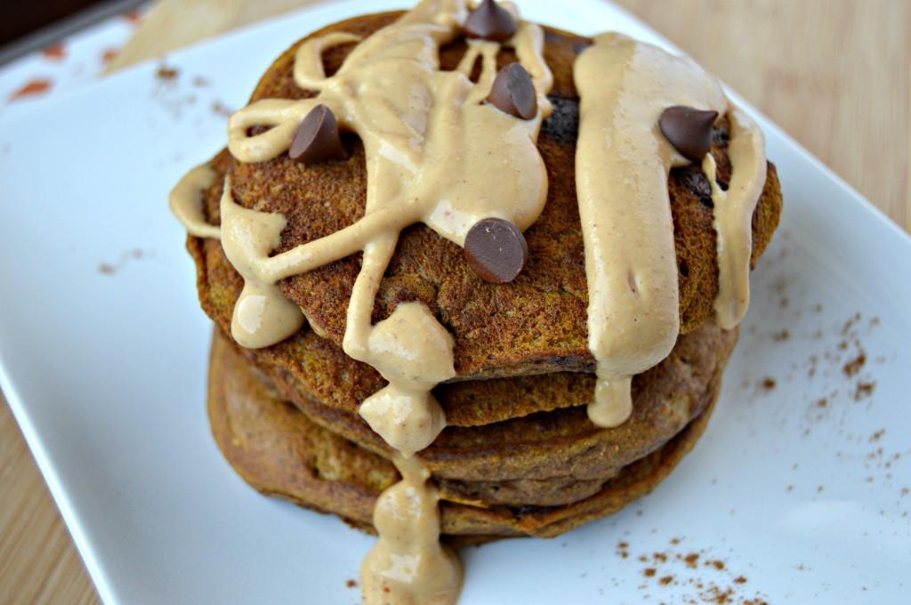Pumpkin Chocolate Chip Pancakes – Clean Eating Veggie Girl