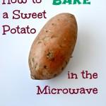 bake sweet potato microwave