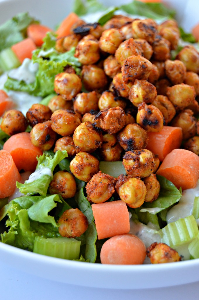 ... Buffalo Chickpeas + Buffalo Chickpea Salad - Clean Eating Veggie Girl
