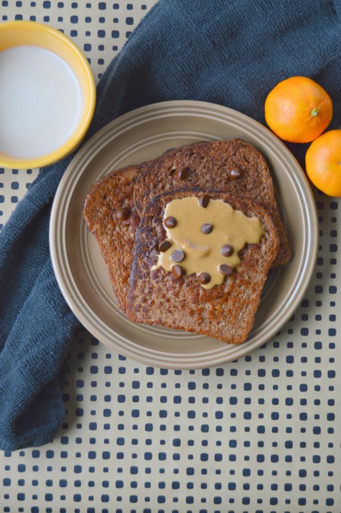 PB chocolate french toast