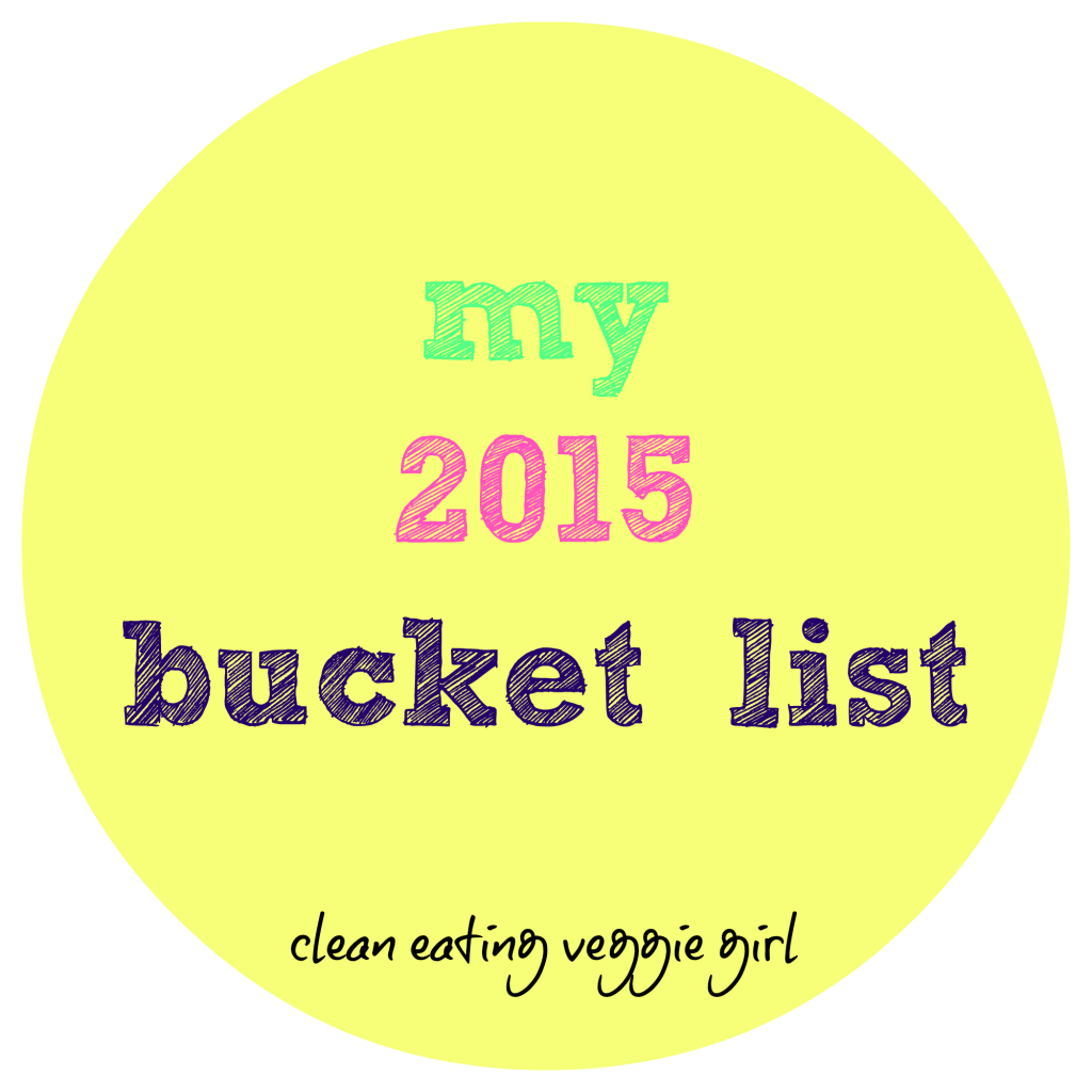2015 bucket list graphic