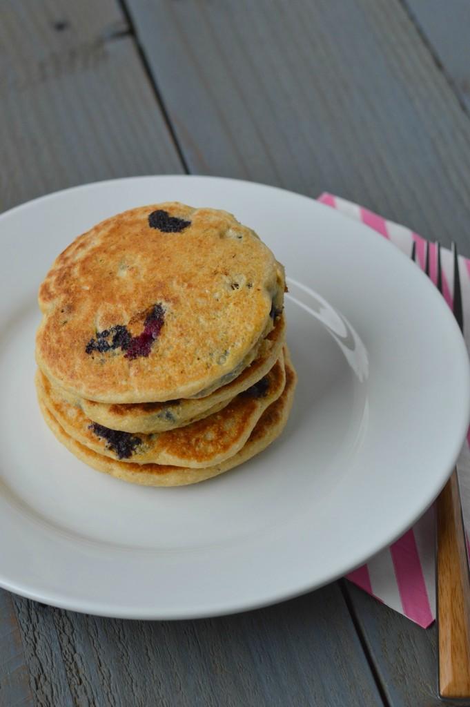 Blueberry Cornbread Pancakes 3