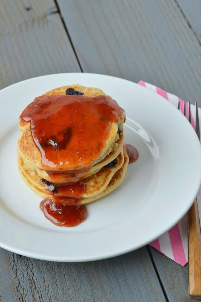 Blueberry Cornbread Pancakes 4
