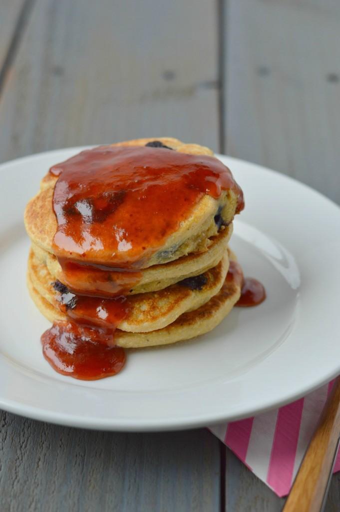 Blueberry Cornbread Pancakes 6