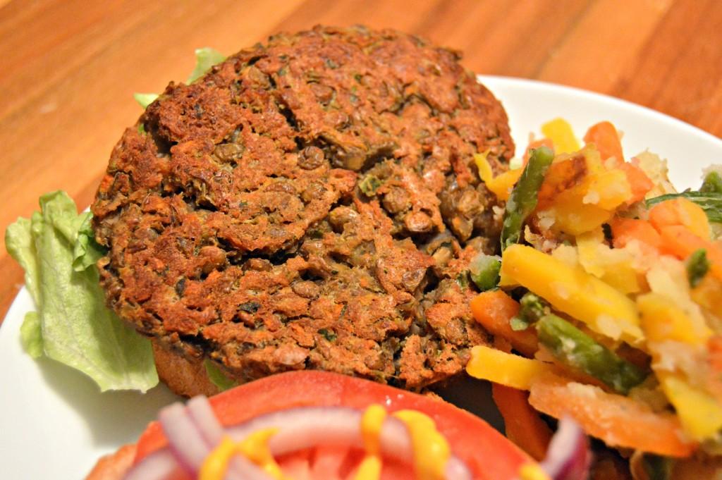 FFF lentil burgers