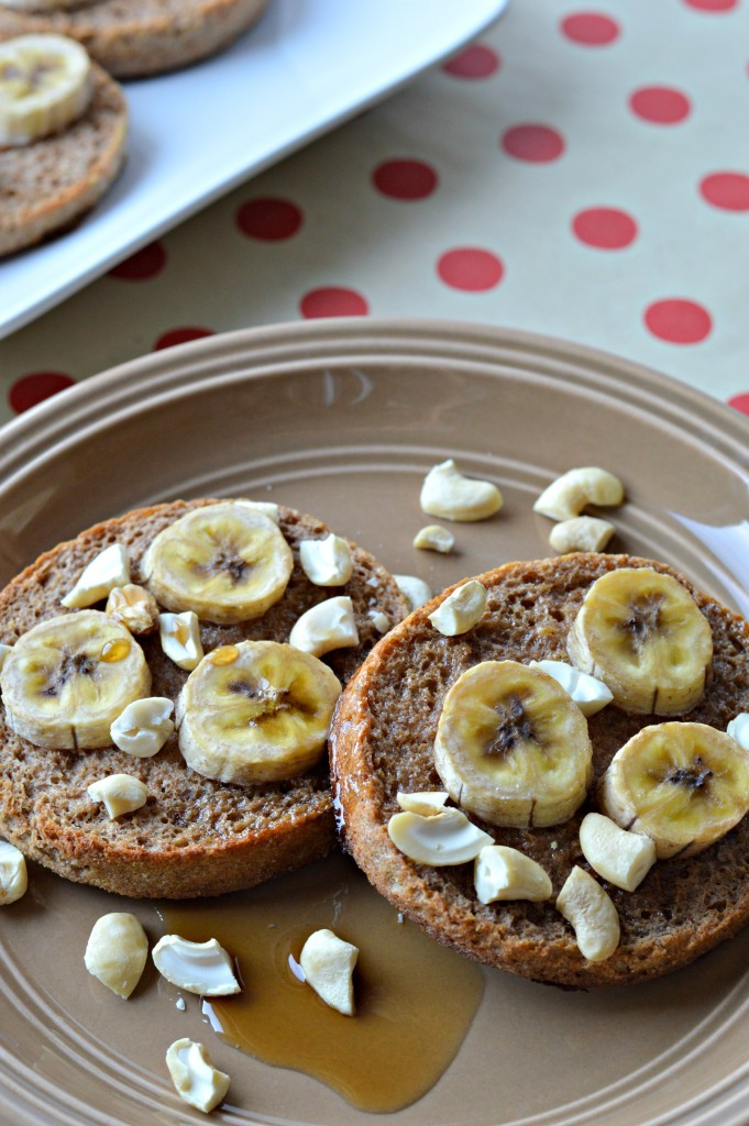 Cinnamon Banana English Muffin French Toast