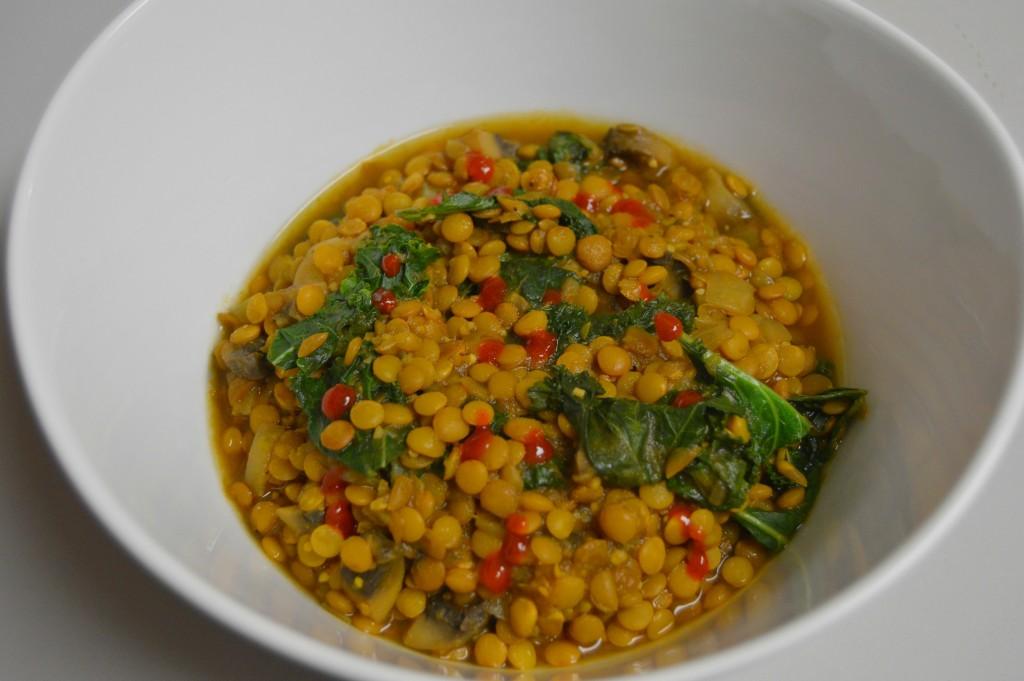 FFF salsa lentils and kale