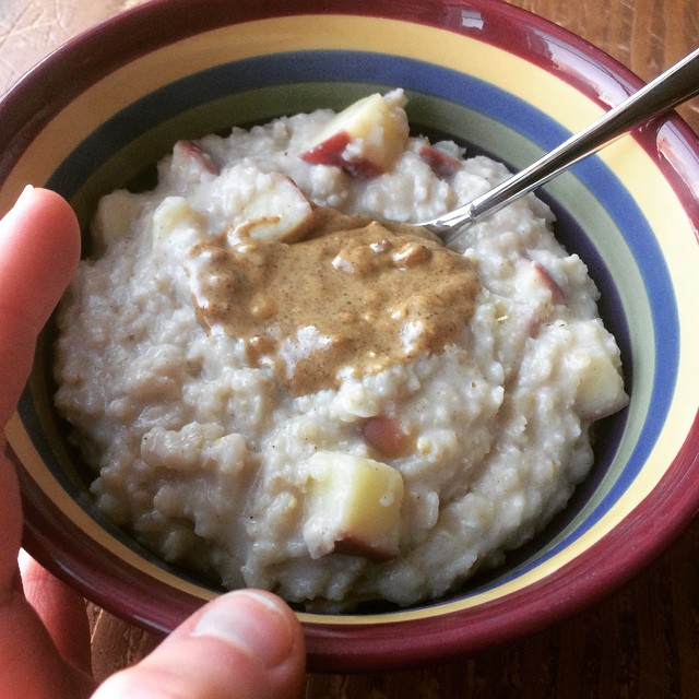 instagram apple spice oatmeal