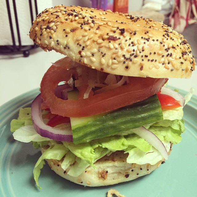 instagram bagel sandwich