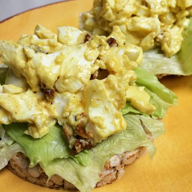 instagram curry egg salad