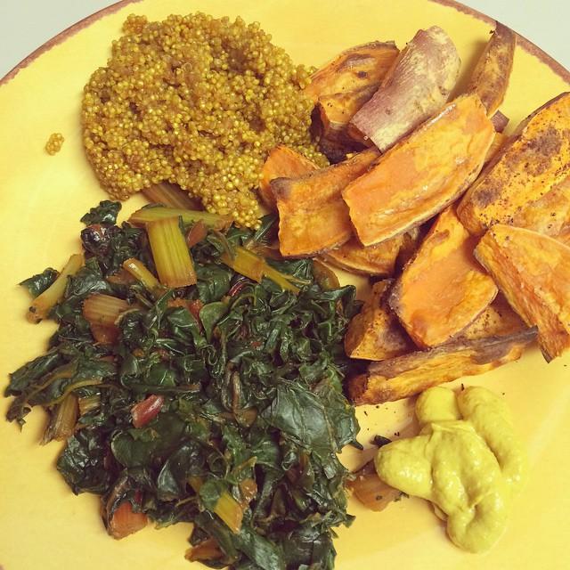 instagram turmeric quinoa swt pot greens