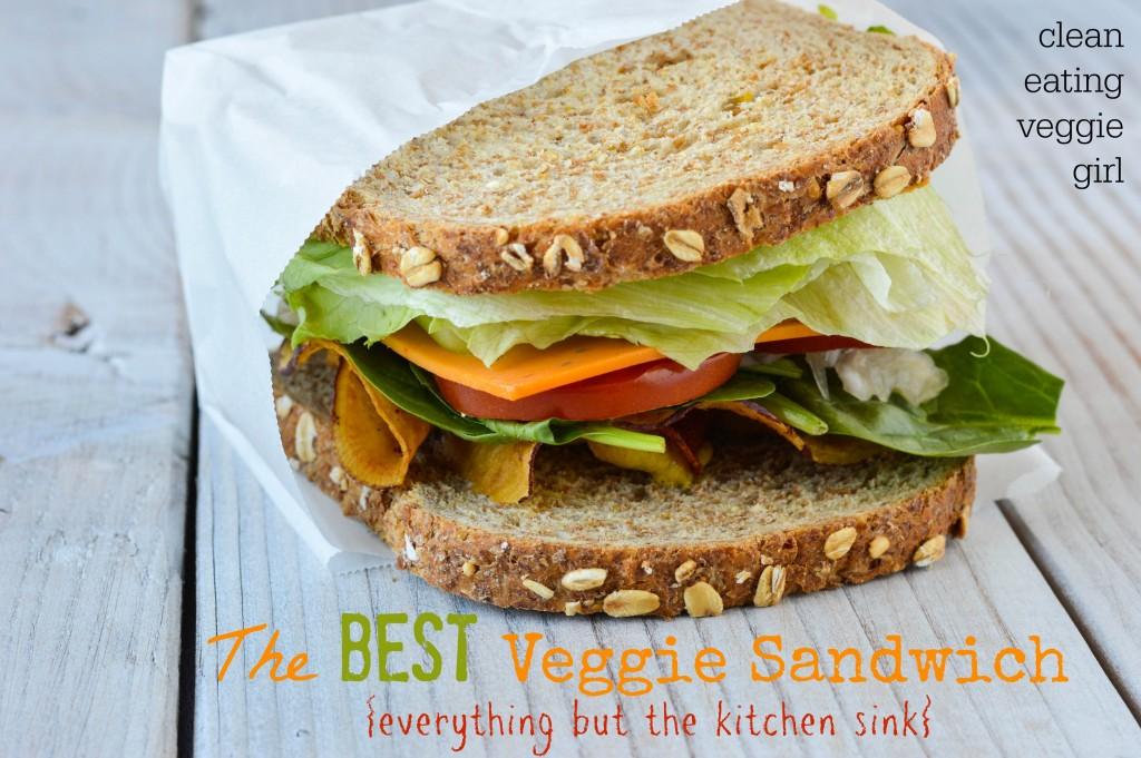 The Best Veggie Sandwich {Everything But the Kitchen Sink}